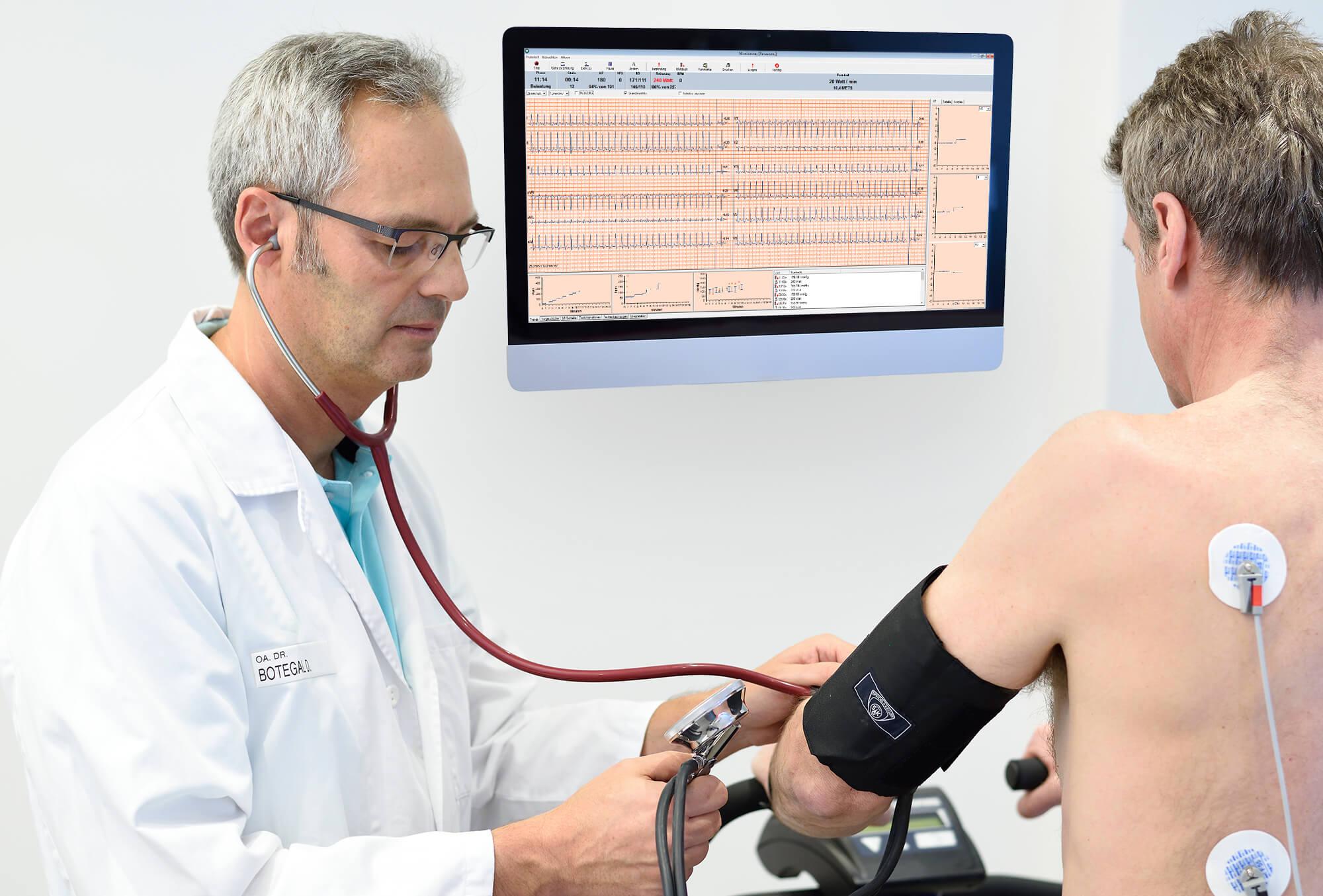 Ergometrie (Belastungs EKG) Botegal